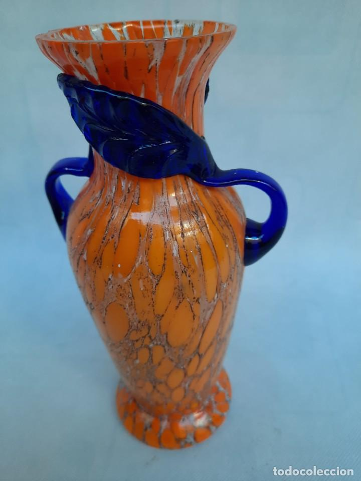 Antigüedades: jarron con asas-Murano- - Foto 2 - 235336930