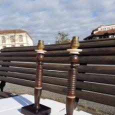 Antiquités: LAMPARA DE MARFIL Y ÉBANO ANTIGUAS MARAVILLOSAS Y RARAS AÑOS 1920 APROX. Lote 235380915