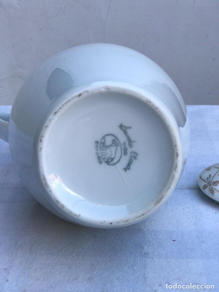 Antigüedades: ANTIGUO JUEGO DE CAFÉ PORCELANA SANTA CLARA- 5 SERVICIOS - Foto 5 - 235384595