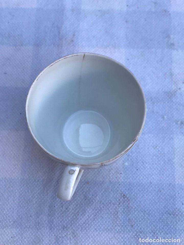 Antigüedades: ANTIGUO JUEGO DE CAFÉ PORCELANA SANTA CLARA- 5 SERVICIOS - Foto 9 - 235384595
