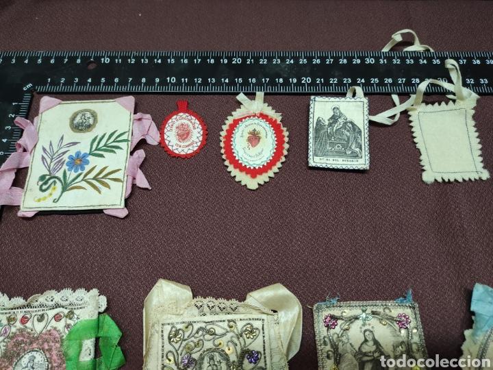 Antigüedades: Lote 9 Antiguos relicarios bordados - Foto 2 - 235462340