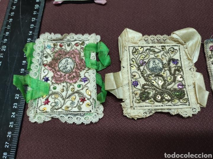 Antigüedades: Lote 9 Antiguos relicarios bordados - Foto 3 - 235462340