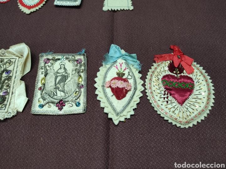 Antigüedades: Lote 9 Antiguos relicarios bordados - Foto 4 - 235462340