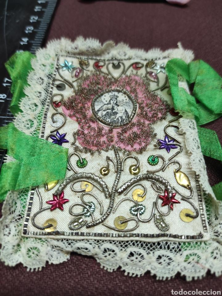 Antigüedades: Lote 9 Antiguos relicarios bordados - Foto 5 - 235462340