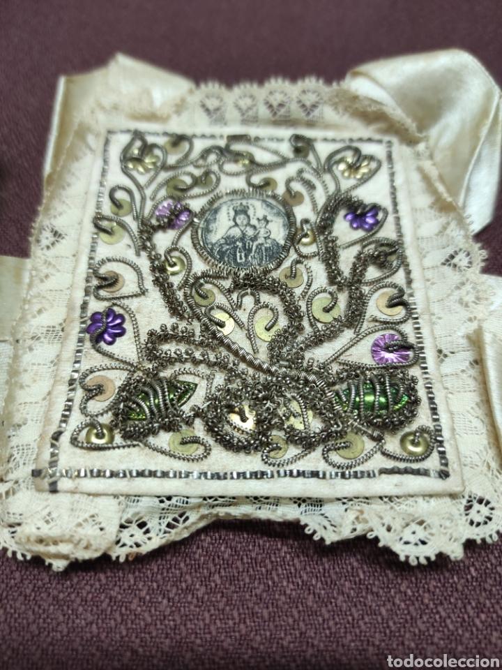 Antigüedades: Lote 9 Antiguos relicarios bordados - Foto 6 - 235462340