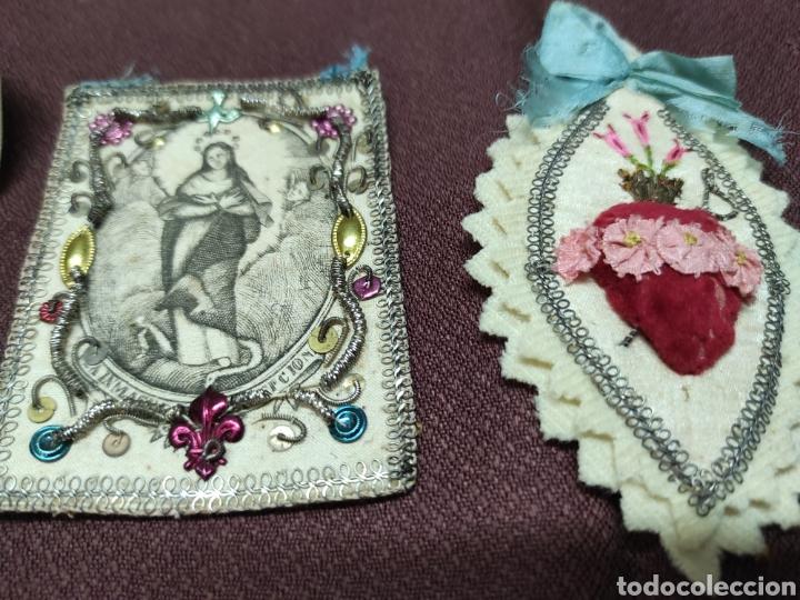 Antigüedades: Lote 9 Antiguos relicarios bordados - Foto 7 - 235462340