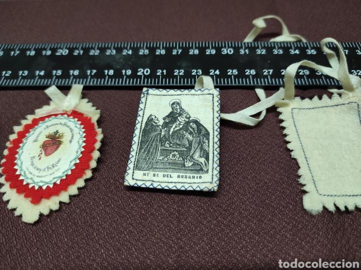 Antigüedades: Lote 9 Antiguos relicarios bordados - Foto 10 - 235462340