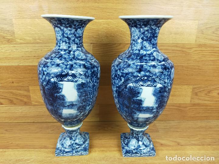 ANTIGUOS JARRONES 32 CM DE ALTO (Antigüedades - Hogar y Decoración - Jarrones Antiguos)