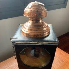 Antigüedades: ANTIGUO FAROL PARA TREN O CARRUAJE. Lote 235504735