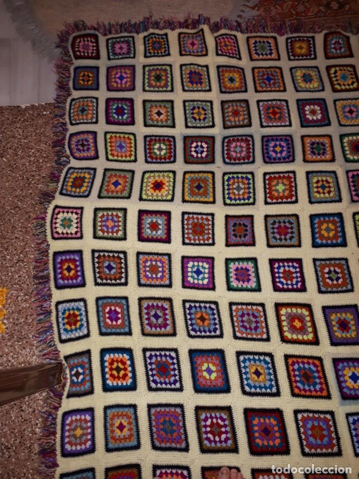 Antigüedades: Antigua colcha hecha a mano a Broche - Foto 4 - 235536705
