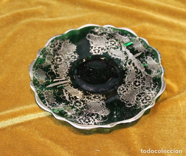 Antigüedades: Servicio de cristal de Murano,Jarra de agua,ensaladera,frutero,seis vasos y seis platos de postre. - Foto 2 - 235542630