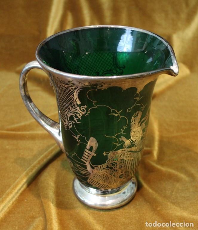 Antigüedades: Servicio de cristal de Murano,Jarra de agua,ensaladera,frutero,seis vasos y seis platos de postre. - Foto 4 - 235542630