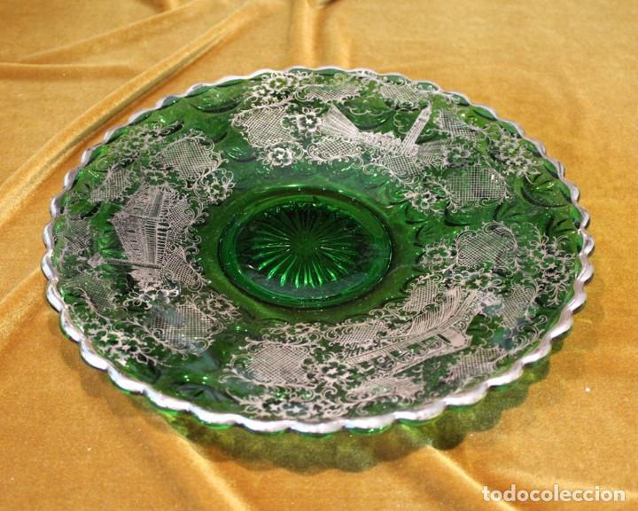 Antigüedades: Servicio de cristal de Murano,Jarra de agua,ensaladera,frutero,seis vasos y seis platos de postre. - Foto 7 - 235542630