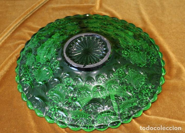 Antigüedades: Servicio de cristal de Murano,Jarra de agua,ensaladera,frutero,seis vasos y seis platos de postre. - Foto 8 - 235542630