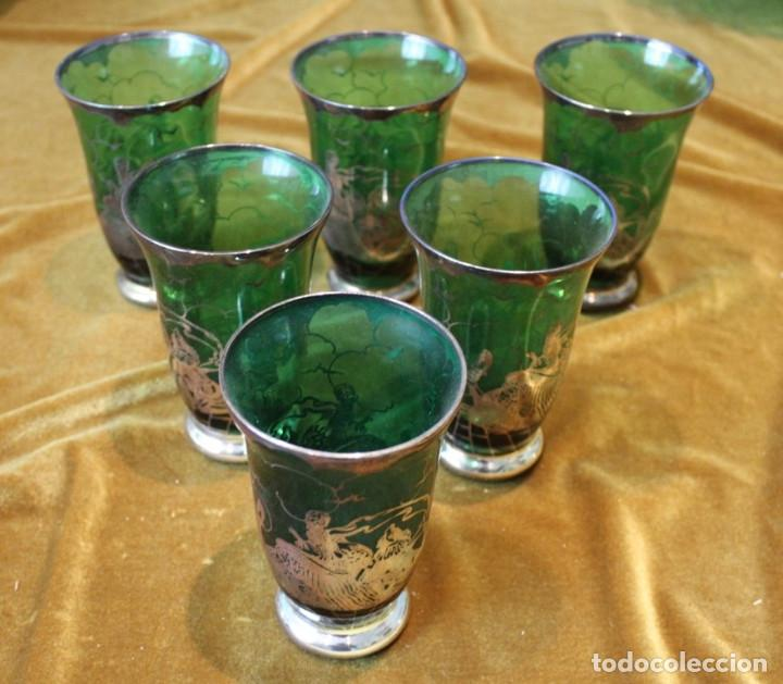 Antigüedades: Servicio de cristal de Murano,Jarra de agua,ensaladera,frutero,seis vasos y seis platos de postre. - Foto 10 - 235542630