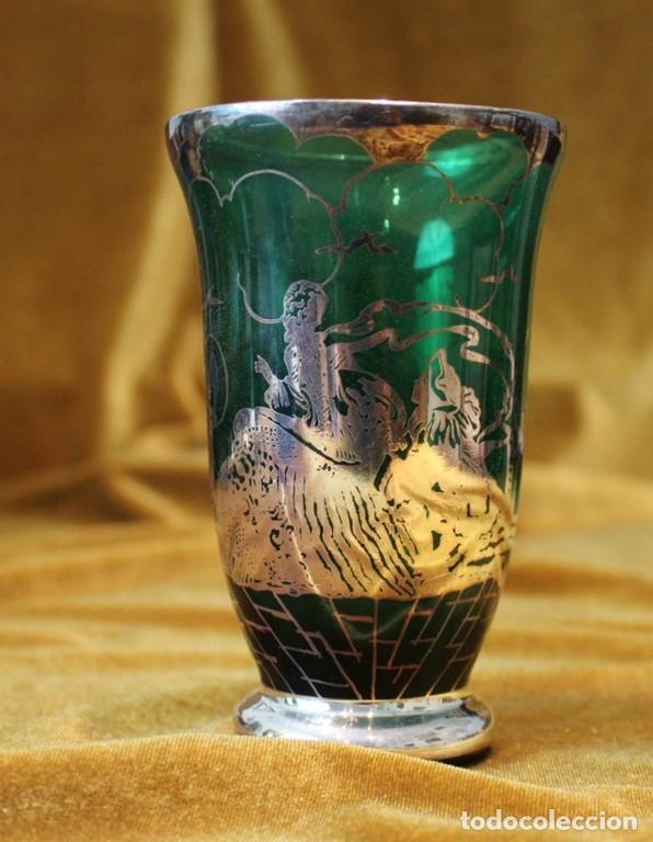 Antigüedades: Servicio de cristal de Murano,Jarra de agua,ensaladera,frutero,seis vasos y seis platos de postre. - Foto 11 - 235542630