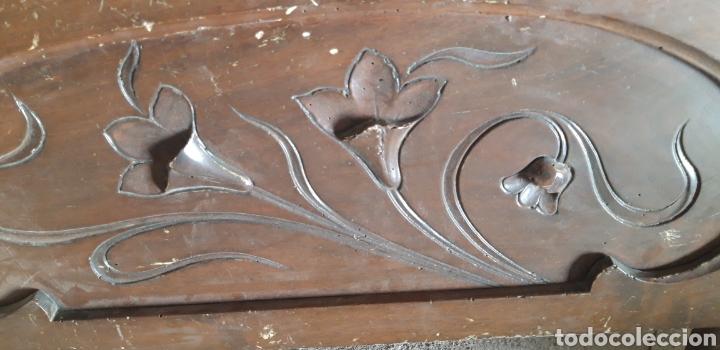 Antigüedades: Antiguo remate modernista en madera tallada - Foto 2 - 235574330