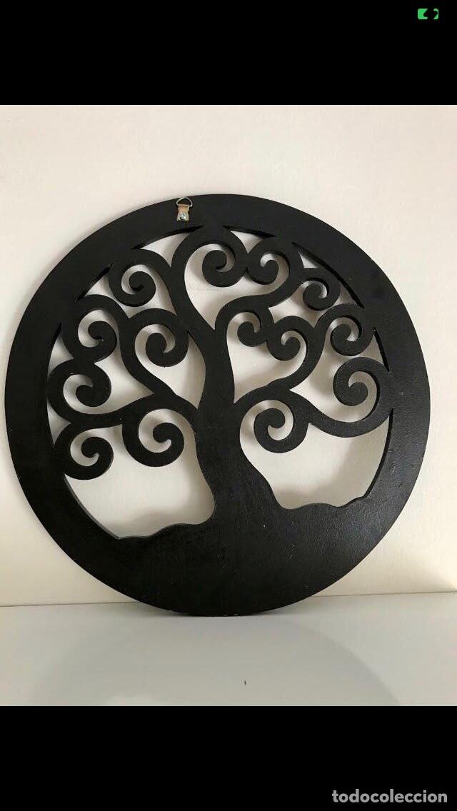Antigüedades: Mandala Madera Árbol de la Vida 30 cmts. Artesanía ZEN - Foto 2 - 235598890