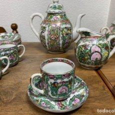 Antigüedades: JUEGO DE CAFÉ PORCELANA MACAO. Lote 235611955