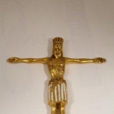 Antigüedades: CRISTO ROMANICO BRONCE. Lote 235615435