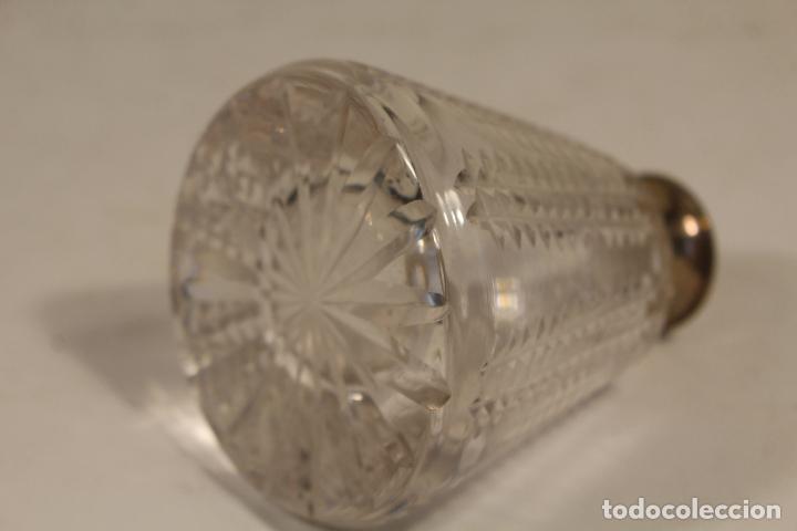 Antigüedades: juego de tocador de cristal tallado y plata de ley - Foto 6 - 268865689