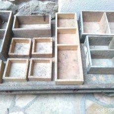 Antigüedades: LOTE CAJAS DE MADERA CON DEPARTAMENTOS.CAJAS DE MADERA ANTIGUAS.. Lote 235620875