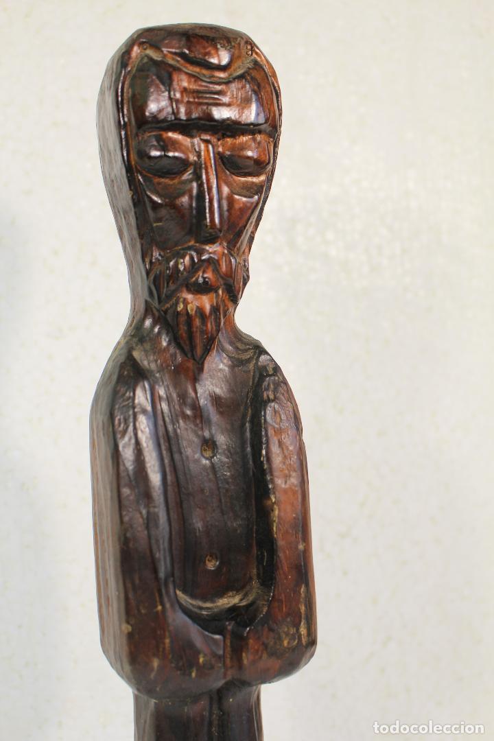 Antigüedades: monje fraile en madera tallada - Foto 2 - 268860204