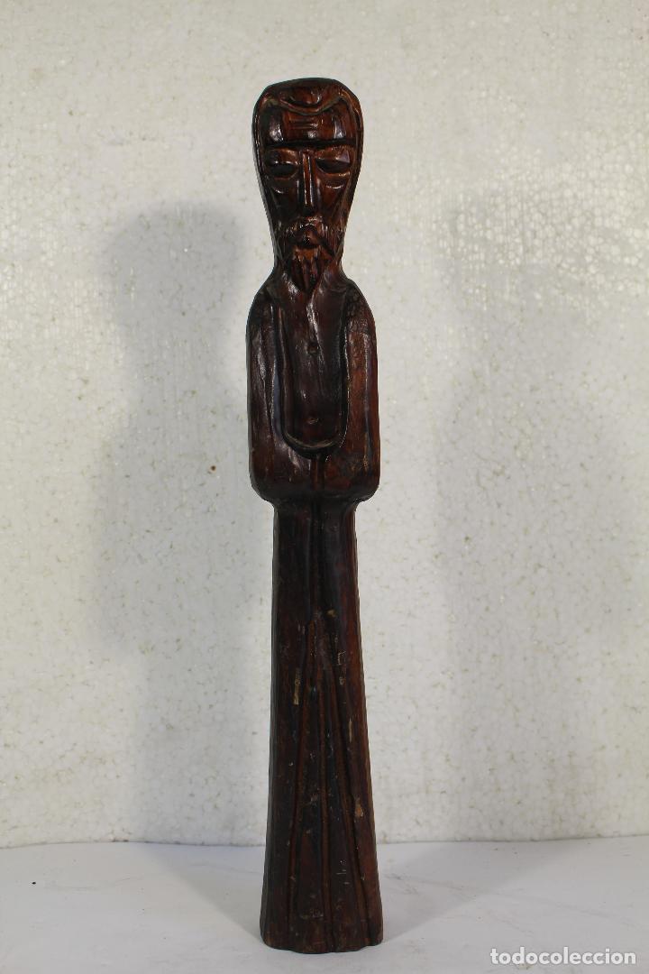 Antigüedades: monje fraile en madera tallada - Foto 3 - 268860204