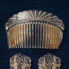 Antigüedades: FINAS Y ORIGINALES PEINETAS ANTIGUAS EN CELULOIDE ? BURILADAS A MANO. PRINCIPIOS SIGLO XX.. Lote 235635215