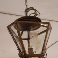 Antigüedades: FAROL DE TECHO. GRABADO ÁCIDO. SIGLO XIX-XX.. Lote 235645535