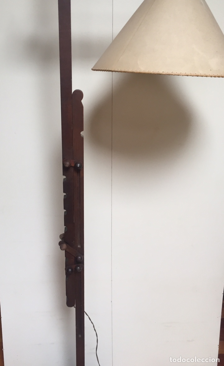 Antigüedades: Original lámpara alta de madera regulable - Foto 2 - 235702155
