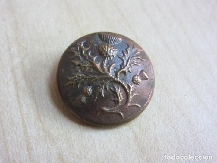 Antigüedades: Bonito botón finales S XVIII- Principios XIX con motivos florales - Foto 2 - 235713550