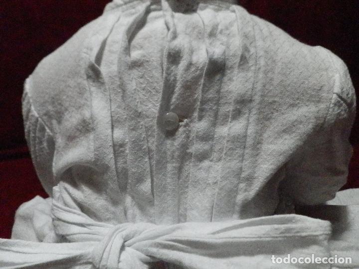 Antigüedades: ANTIGUO VESTIDO FALDÓN EN PIQUÉ DE ALGODÓN PARA BEBÉ - Foto 5 - 235737460