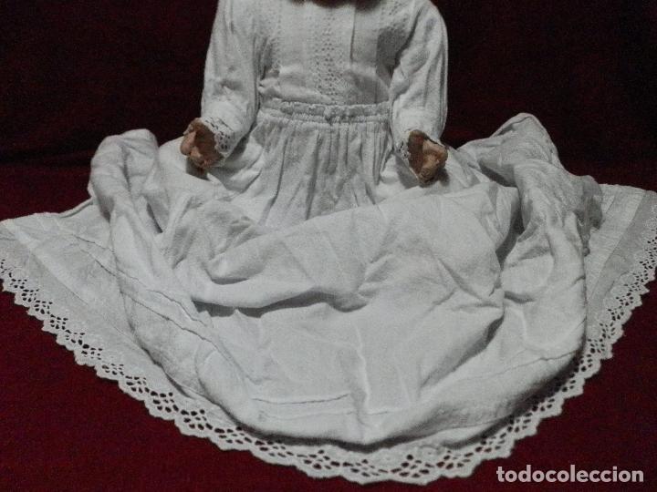 ANTIGUO VESTIDO FALDÓN EN PIQUÉ DE ALGODÓN PARA BEBÉ (Antigüedades - Moda y Complementos - Infantil)