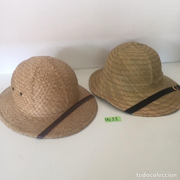 LOTE DE SOMBREROS DE PAJA (Antigüedades - Moda - Sombreros Antiguos)