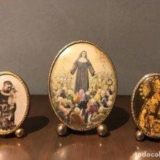 Antigüedades: ANTIGUOS MINI PORTAFOTOS AÑOS 60. Lote 235835770