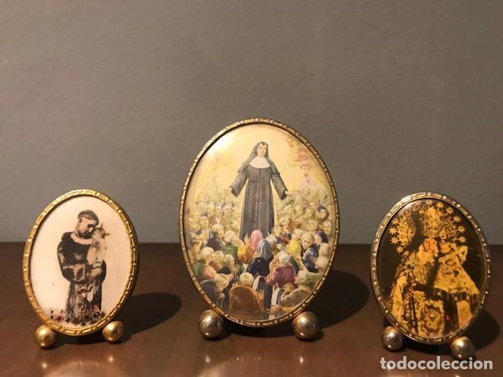 Antigüedades: ANTIGUOS MINI PORTAFOTOS AÑOS 60 - Foto 7 - 235835770