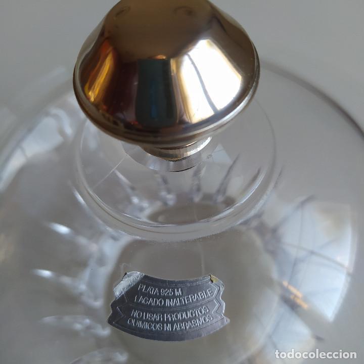 Antigüedades: BOMBONERA DE CRISTAL DE BOHEMIA Y PLATA - Foto 3 - 235871135