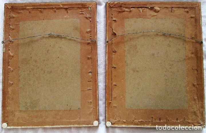 Antigüedades: LOTE DE 2 CUADROS NATURALISTAS CON MOTIVO DE AVES - ESPECIAL DECORACION VINTAGE - Foto 6 - 235874365