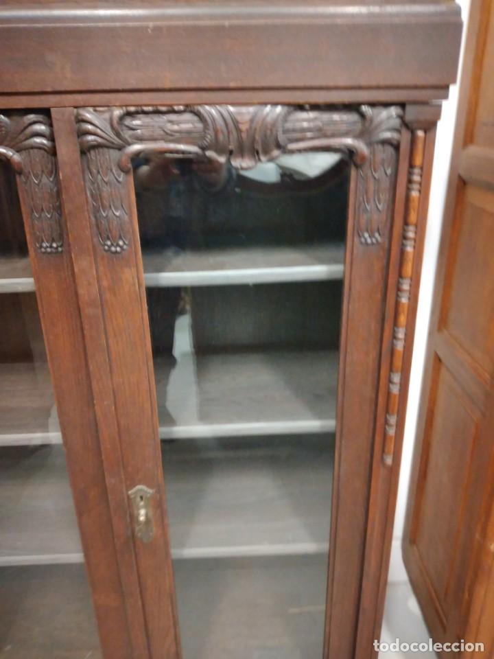 Antigüedades: Antigua vitrina de madera noble .heintel & schairer stuttgart.año 1910/1920 - Foto 3 - 235880690