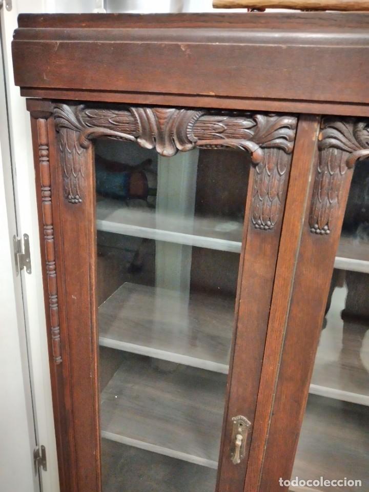 Antigüedades: Antigua vitrina de madera noble .heintel & schairer stuttgart.año 1910/1920 - Foto 4 - 235880690