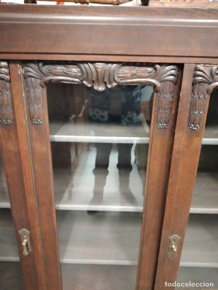 Antigüedades: Antigua vitrina de madera noble .heintel & schairer stuttgart.año 1910/1920 - Foto 5 - 235880690