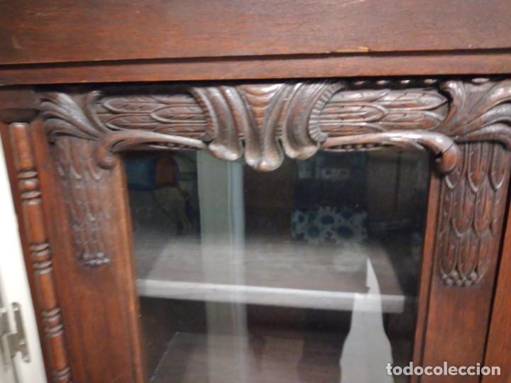 Antigüedades: Antigua vitrina de madera noble .heintel & schairer stuttgart.año 1910/1920 - Foto 17 - 235880690