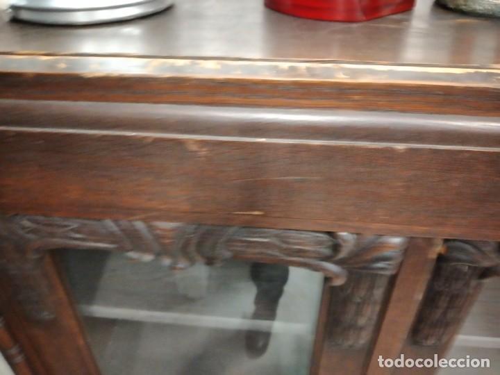 Antigüedades: Antigua vitrina de madera noble .heintel & schairer stuttgart.año 1910/1920 - Foto 18 - 235880690