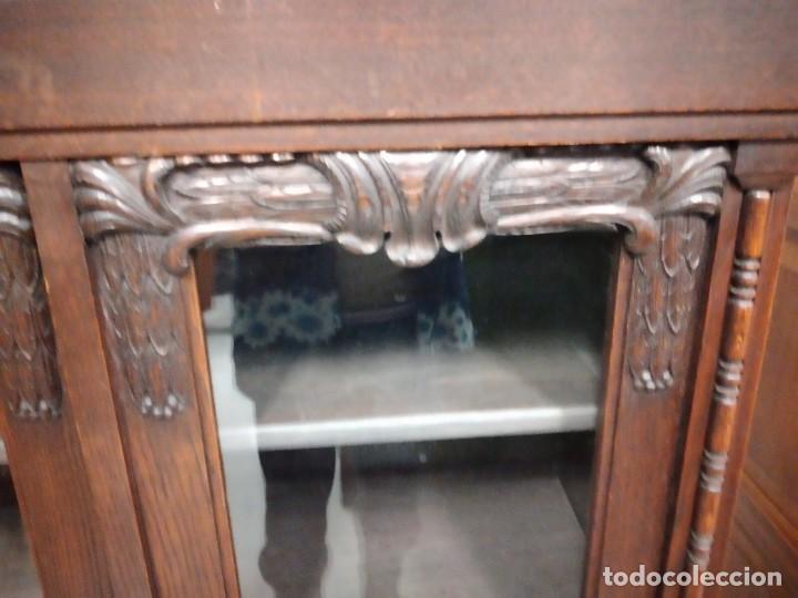 Antigüedades: Antigua vitrina de madera noble .heintel & schairer stuttgart.año 1910/1920 - Foto 20 - 235880690