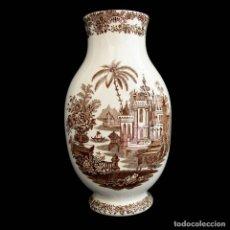 Antigüedades: FANTÁSTICO JARRÓN LA CARTUJA DE SEVILLA DE GRAN TAMAÑO. Lote 235886750