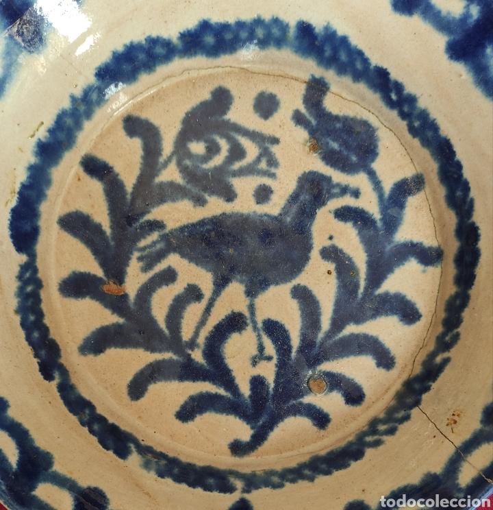 Antigüedades: MAGNIFICO PLATO, FUENTE ANTIGUA EN CERÁMICA DE FAJALAUZA (GRANADA) S.XIX - Foto 2 - 235951645