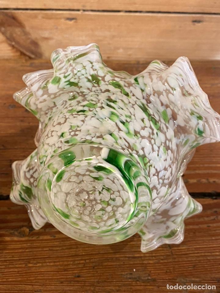 Antigüedades: Cesta en cristal tipo Murano - Foto 4 - 235951760