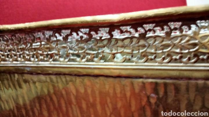 Antigüedades: BONITA JARDINERA EN METAL - Foto 3 - 235954685