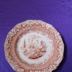 Antigüedades: PLATO SARGADELOS VISTA CUBA CAMINO DEL HIERRO DE LA AGUADA DEL CURA. Lote 235964395